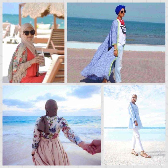 236a4253e3140 صور و افكار ستايلات بالحجاب لأيام المصيف