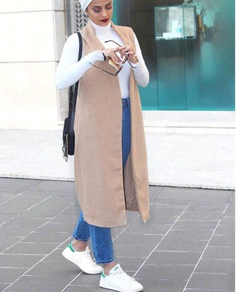 3c75c2c0a7594 شوفى معانا كمان كوليكشن ستايلات ملابس خريفى للمحجبات لموسم خريف وشتاء 2018